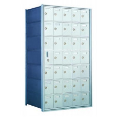 Custom 35 Door Horizontal Mailbox Unit - Front Loading - (34 Useable; 7 High) 160075-SP