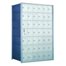 Custom 42 Door Horizontal Mailbox Unit - Front Loading - (41 Useable; 7 High) 160076-SP