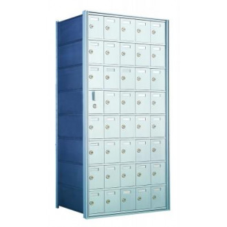 Standard 40 Door Horizontal Mailbox Unit - Front Loading - (39 Useable; 8 High) 160085A