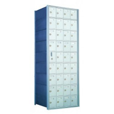 Standard 36 Door Horizontal Mailbox Unit - Front Loading - (35 Useable; 9 High) 160094A