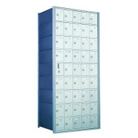 Custom 45 Door Horizontal Mailbox Unit - Front Loading - (44 Useable; 9 High) 160095-SP