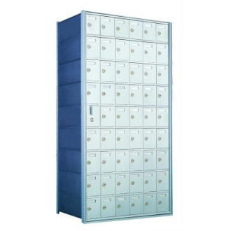 Standard 54 Door Horizontal Mailbox Unit - Front Loading - (53 Useable; 9 High) 160096A