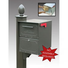 Mail Room and Office Mailing Products Locking Curbside Mailbox - Small Capacity