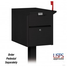 Locking Steel Residential Mailbox with Front and Rear Mail Access