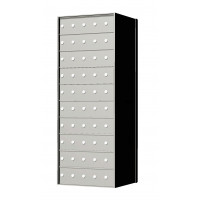 Custom 50 Door 10 High Horizontal Mailbox Unit - Rear Loading - 1700105SP