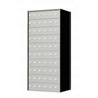 Custom 60 Door 10 High Horizontal Mailbox Unit - Rear Loading - 1700106SP