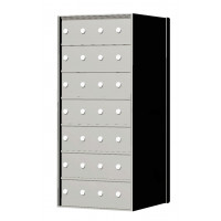 Custom 28 Door 7 High Horizontal Mailbox Unit - Rear Loading - 170074SP