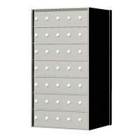 Custom 35 Door 7 High Horizontal Mailbox Unit - Rear Loading - 170075SP
