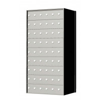 Custom 54 Door 9 High Horizontal Mailbox Unit - Rear Loading - 170096SP