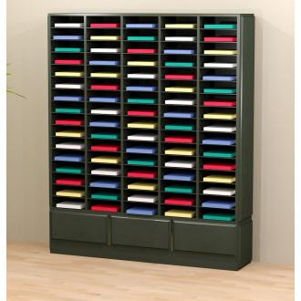 Mail Room Furniture Wood Mail Room Sorter / Office Organizer - 80 Pockets