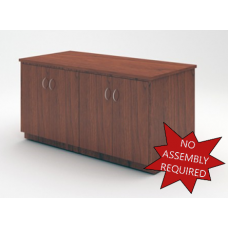 "Mail Room And Office Furniture - 63""W Wood Table with Doors"
