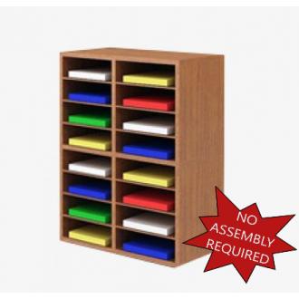 """Mail Room Furniture - 25-1/4""""W Wood Sorter - 16 Pocket."""