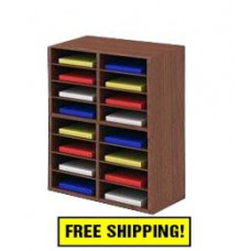 """Close Out! 25-1/4""""W Wood Sorter - 16 Pocket (1 Left) - FREE SHIPPING"""