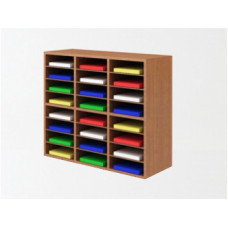 """Mail Room And Office Furniture - 37-1/2""""W Wood Sorter - 24 Pocket"""