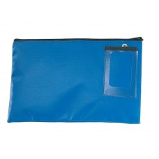 "Mailroom Supplies Vinyl Round Trip Mail Pouch 14""L x 9""H - Blue"