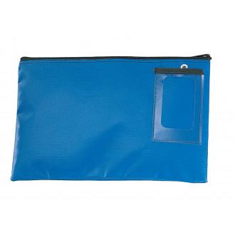 """Mailroom Supplies Vinyl Round Trip Mail Pouch 14""""L x 9""""H - Blue"""