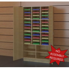 "37-1/2"" W Attractive Wooden Locking Storage Cabinet"