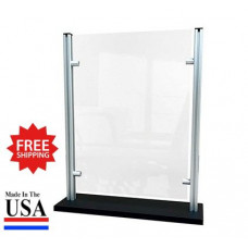 "Stylish Counter Top Protective Acrylic Shield Screen 20""W x 24""H for Safe Physical Distancing - FREE SHIPPING!!"