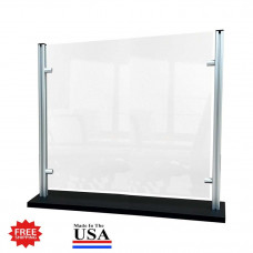 "Stylish Counter Top Protective Acrylic Shield Screen 35""W x 24""H for Safe Physical Distancing - FREE SHIPPING!!"