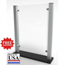 "Stylish Counter Top Protective Acrylic Shield Screen 19""W x 24-1/8""H for Safe Physical Distancing - FREE SHIPPING!!"