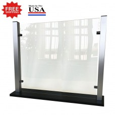 "Stylish Counter Top Protective Acrylic Shield Screen 35""W x 25-1/4""H for Safe Physical Distancing - FREE SHIPPING!!"
