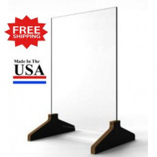 "Standard Base Counter Top Protective Acrylic Shield Screen 15""W x 23""H for Safe Physical Distancing - FREE SHIPPING!!"