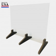 "Standard Base Counter Top Protective Acrylic Shield Screen 30""W x 24""H for Safe Physical Distancing - FREE SHIPPING!!"