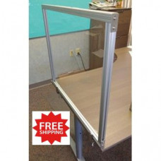 "Attachable Desktop Protection Screen 24""H x 29""W for Safe Physical Distancing - FREE SHIPPING!!"