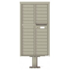 Mailboxes Commercial and Private Use Front Loading Mailbox, 4C Pedestal Mount Mailbox w/29 tenant compartments