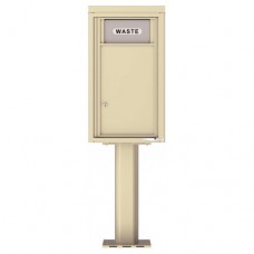 Trash / Recycling Bin (Pedestal Included) - 4C Pedestal Mount 8-High - 4C08S-BIN-P
