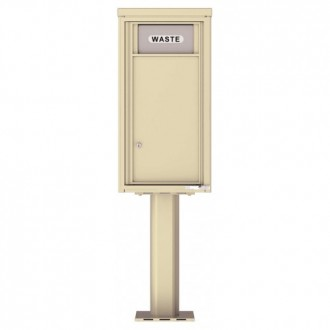 Trash / Recycling Bin (Pedestal Included) - 4C Pedestal Mount 9-High - 4C09S-BIN-P