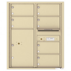 6 Oversized Tenant Doors with 1 Parcel Locker and Outgoing Mail Compartment - 4C Wall Mount 10-High Mailboxes - 4C10D-06