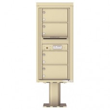 4 Over-sized Tenant Doors with Outgoing Mail Compartment (Pedestal Included) - 4C Pedestal Mount 10-High Mailboxes - 4C10S-04-P