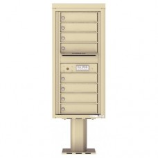 8 Tenant Doors with Outgoing Mail Compartment (Pedestal Included) - 4C Pedestal Mount 10-High Mailboxes - 4C10S-08-P