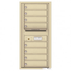 8 Tenant Doors with Outgoing Mail Compartment - 4C Wall Mount 10-High Mailboxes - 4C10S-08