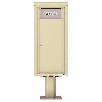 Trash / Recycling Bin (Pedestal Included) - 4C Pedestal Mount 10-High - H4C10S-BIN-P