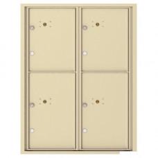 4 Parcel Doors Unit - 4C Wall Mount 11-High - 4C11D-4P