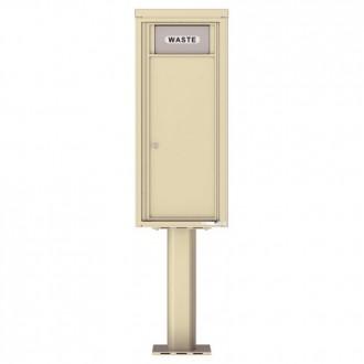 Trash / Recycling Bin (Pedestal Included) - 4C Pedestal Mount 11-High - 4C11S-BIN-P
