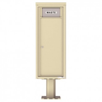 Trash / Recycling Bin (Pedestal Included) - 4C Pedestal Mount 12-High - 4C12S-BIN-P