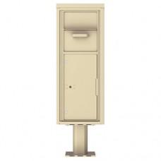 Collection/Drop Box Unit - 4C Pedestal Mount 12-High (Pedestal Included) - 4C12S-HOP-P