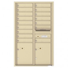 16 Tenant Doors with 2 Parcel Lockers and Outgoing Mail Compartment - 4C Wall Mount 14-High Mailboxes - 4C14D-16