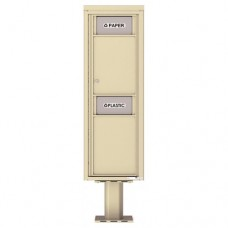 Trash / Recycling Bin (Pedestal Included) - 4C Pedestal Mount 14-High - 4C14S-BIN-P