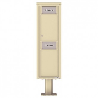 Trash / Recycling Bin (Pedestal Included) - 4C Pedestal Mount 15-High - 4C15S-BIN-P