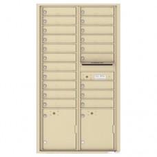 20 Tenant Doors with 2 Parcel Lockers and Outgoing Mail Compartment - 4C Wall Mount Max Height Mailboxes - 4C16D-20