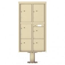 6 Parcel Doors Unit - 4C Pedestal Mount Max Height (Pedestal Included) - 4C16D-6P-P