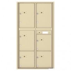 6 Parcel Doors Unit - 4C Wall Mount Max Height - 4C16D-6P