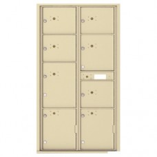 8 Parcel Doors Unit - 4C Wall Mount Max Height - 4C16D-8P