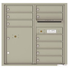 Commercial and Residential Mailboxes-Front Loading Mailbox, 4C Mailbox w/9 Tenant Compartments, 1 Parcel Locker, 30-1/4""