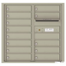 """Commercial and Residential Mailboxes-Front Loading Mailbox,4C Mailbox w/13 Tenant Compartments, 30-1/4"""""""