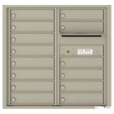 Commercial and Residential Mailboxes-Front Loading Mailbox, 4C Mailbox w/14 Tenant Compartments, 30-1/4""